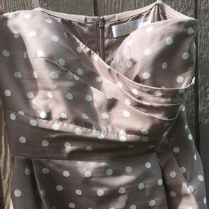 Eliza J New York size 10 taupe with white dots